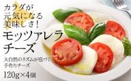 トマトと相性抜群!モッツァレラチーズ 120g 4個
