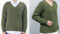 大江の職人の手動編みオーダーメイドカシミア100%Vネックセーター