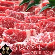 熊本県産 くまもとあか牛 焼き肉用 300g 《60日以内に順次出荷(土日祝除く)》 玉屋商店