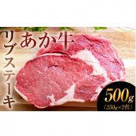 熊本の和牛 あか牛 リブ ステーキ 250g×2枚 500g《5月上旬-6月下旬頃より順次出荷》