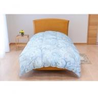 【ダニ忌避率84%】ちょうどいい中厚タイプの羽毛布団 藍白色