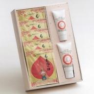 桃果汁配合 入浴剤とハンドクリーム