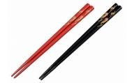 輪島塗 夫婦箸(吹寄蒔絵、手書き蒔絵)