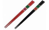 輪島塗 夫婦箸(糸車)