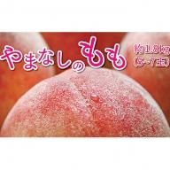 【先行予約】山梨の桃 約1.8kg(5~7玉)