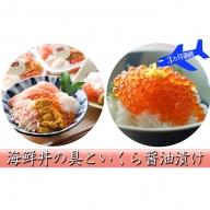 よくばり海鮮丼を召し上がれ♪海鮮丼の具といくら醤油漬を3ヵ月連続お届け!
