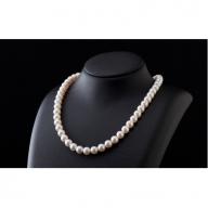 五つ星級の真珠!オーロラ艶!ラウンド7.0-7.5mmアコヤ真珠ネックレス・ピアスorイヤリングセット Q-120