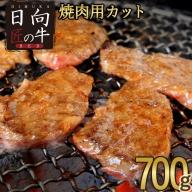 「日向匠の牛RED」焼肉カット 700g【B412】