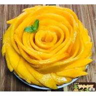 亜熱帯西表島の夏の太陽をいっぱいに浴びた!!アナナス農園の完熟アップルマンゴー 約700g