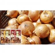 北海道産玉葱10kgと野菜ビーフカレー/野菜ほたてカレー