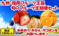 C046.先行受付【人気】九州・福岡フルーツ王国.旬のフルーツ定期便Cセット