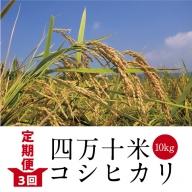 19-605.【定期便3回】四万十産コシヒカリ10kg