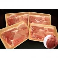 佐賀県産 肥前さくらポーク 豚モモスライス しゃぶしゃぶ用 2500g(625g×4P)と黄金ハンバーグ1個セット B-529