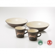 DB132:ご当地マグカップと皿鉢セット(大山ブランド会)