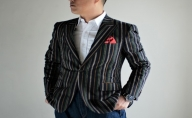 NIPPON KIMONO FABRICS「遠州綿紬」ジャケット(カラー:緑ライン入り)