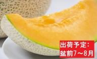 【先行予約/盆前発送】 訳あり メロン 7.5kg程度 (赤肉4~8玉)  津軽産