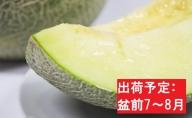 【先行予約/盆前発送】 訳あり メロン 7.5kg程度 (緑肉4~8玉)  津軽産