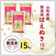 SC0105 令和元年産米 無洗米はえぬき 15kg TO