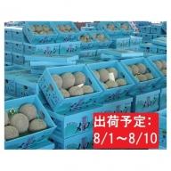 盆前 津軽産 青肉メロンご家庭用約5kg3~6玉