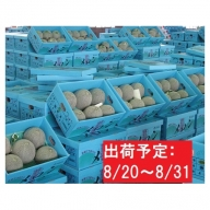 盆明 津軽産 青肉メロンご家庭用約5kg3~6玉