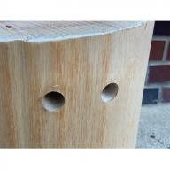 吉野桧スツール持ち手付き / 椅子 チェアー 丸太いす 天然素材 奈良県 宇陀市産