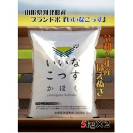 A-1232103【2021年3月発送分】山形県河北町産はえぬき10kg(5kg×2袋)【米comeかほく協同組合】