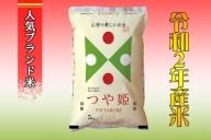 E-0182011【2020年11月発送分】山形県産つや姫特別栽培米10kg(5kg×2袋)