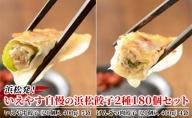 浜松発!いえやす自慢の浜松餃子2種180個セット