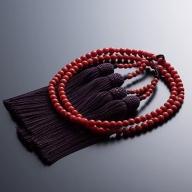 KN011【特級】赤サンゴ 本連数珠(赤サンゴ約6mm玉使用)