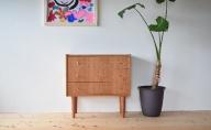 家具職人が作った かわいい おしゃれな 木製 3段チェスト(赤)