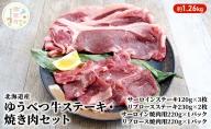 北海道湧別産 ゆうべつ牛ステーキ・焼き肉セットA