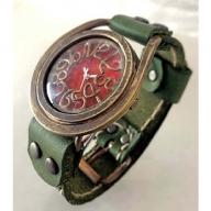 HR24の手作り時計 C(男女兼用)オリ−ブ