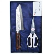 〈タケモト〉料理用三徳包丁・キッチン鋏セット