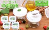 球磨の恵ヨーグルト 1kg×4パック(砂糖不使用)