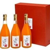K6005_有田みかんジュース(720ml×3本)無添加ストレート 果汁100% 化粧箱入り