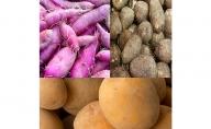 加西市産の贅沢な3種の芋セット(里芋・紫芋・ジャガイモ )