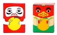 佐藤紅商店 吹屋の紅だるま 2個 吹屋の紅てんぐ 2個