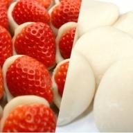 和菓子職人がつくるいちご大福と邑南町産杵つき白餅セット