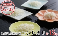 兵庫県加西市産 特A米相当コシヒカリ 5kg×3回【定期便】