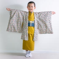 七五三羽織袴 7点セット(矢羽根)