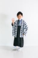 七五三羽織袴 7点セット(チェック)