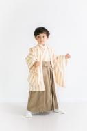 七五三羽織袴 7点セット(ストライプ)