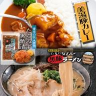 B2-4502/たるたるぱあく黒酢漬・美湯豚カレー・黒豚ラーメンセット