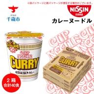 日清★カレーヌードル★2箱 合計40食