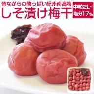 しそ漬け梅干し 1kg(塩分約17%)昔ながらの味わい 和歌山県産