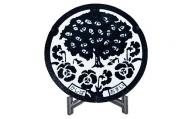 【2636-0115】ミニチュアグラウンドマンホール【香芝市タイプ・白黒2色】