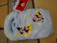 みのむしふとんディズニー9点セット「三日月のミッキーマウスとミニーマウス」【CW63SM】