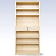 J−040.80書棚WH 無垢材を使用した書棚【諸富家具】