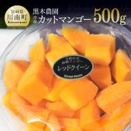 黒木農園産冷凍カットマンゴー(種無し)500g