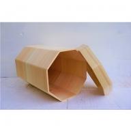 吉野桧蓋付きマルチボックス/ゴミ箱/木箱/一枚板